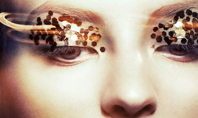 Close Up, Editorial, Eye, flash, Frontpage, Gold, Make Up, Movement, shine